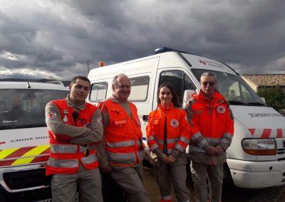 secouristes en poste de secours